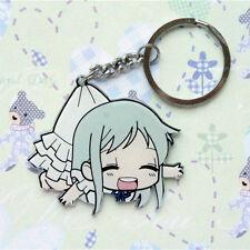 Japan Anime Meiko Honma Menma Double Side Acrylic Figure Keyring Charm Key Chain