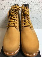 "AIR BALANCE INSULATED 4"" GENUINE LEATHER CONSTRUCTION BOOTS SIZE 5W YELLOW"