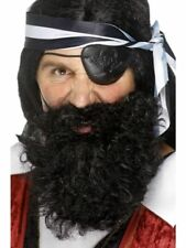 Pirate Buccaneer Beard Adult Mens Smiffys Fancy Dress Costume Accessory - Black