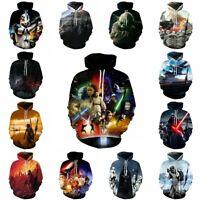 Star Wars Hoodie Pullover Men's Jumper Hooded Coat Sweatshirt Loose 16 Colors