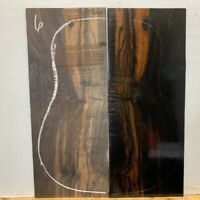 FIGURED  DREADNOUGHT  EBONY GUITAR TOPS OM LUTHIER TONEWOOD BOOK MATCHED  #6