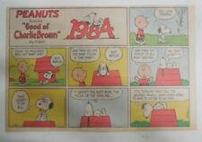 (53) Peanuts Sunday Pages by Charles Schulz from 1984 Size: ~11 x 14 inches