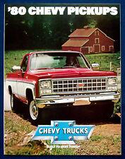 Prospekt brochure 1980 Chevrolet Chevy Pickup (USA)