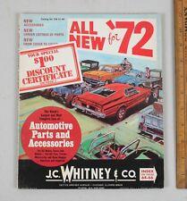 Vintage 1972 J.C. Whitney Automotive Parts Catalog Archer Ave. Chicago