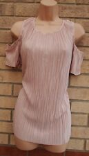 FLORENCE & FRED DUSTY PINK FLARE FRILLY CUT OUT SHOULDER PARTY BLOUSE TOP 18