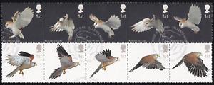 2003 Britain Birds of Prey, Block of 10 FDI USED