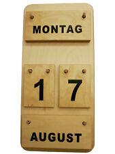 Montessori Dauerkalender Holz, Montessori-Material, Lernkalender aus Deutschland