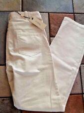 STUDIO M Avril Ivory Denim Mid-Rise Stretch Straight Leg Jeans size 0    NWT