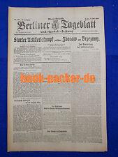 BERLINER TAGEBLATT (6.7.1917): Starker Artilleriekampf zwi. Zborow und Brzezany