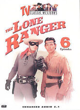 The Lone Ranger - 6 Episodes (ONE CENT DVD, 2004) MOORE SILVERHEELS