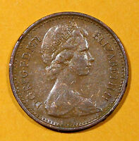 UK (Great Britain) 1971   1/2  NEW PENNY Queen Elizabeth II Coin