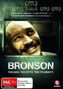 BRONSON DVD, TOM HARDY, THE MAN - THE MYTH - THE LEGEND, NEW & SEALED, FREE POST