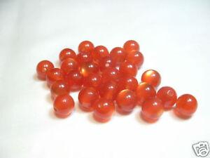 40 x 4mm Polyester Cat's Eye Beads : PCE31 Amber