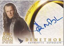 "Lord of the Rings Return of the King - John Noble ""Denethor"" Autograph Card"