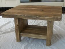 Hand Made Rustic Chunky Coffee Table with Shelf