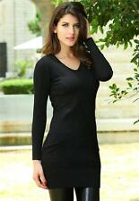 Black Dress Long Sleeve Date Night Slimming Textured Formal One Size 27511