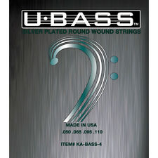 KALA Silver-Plated Roundwound U-Bass Strings (4-String, 50-110) New