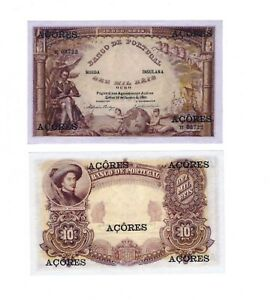 - Paper Reproduction -  Azores 10000 reis 1905 p11      53