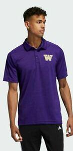 Adidas Men's Washington Huskies GameMode Football Polo Shirt EC2786 $75 ALL SIZE