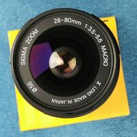 Sigma Zoom 28-80mm F 3.5-5.6 Macro, Canon EF Mount, Parts Or Repair