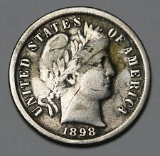 1898 US Barber Dime 90% Silver Coin KM# 113