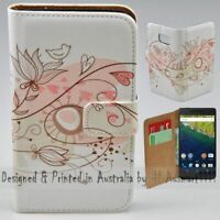 For Google Series - Retro Floral Theme Print Wallet Mobile Phone Case Cover