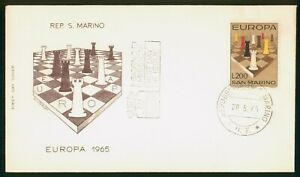 Mayfairstamps San Marino FDC 1965 Chess Europa First Day Cover wwp_58757