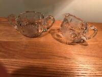 Antique American Brilliant Period Cut Glass Creamer Sugar Set