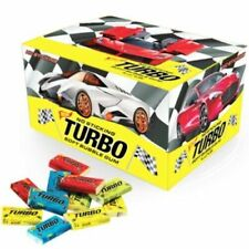 TURBO Chewing Gums CARS PICTURES Full Sealed Box 100 Pcs Collectable Wrappers
