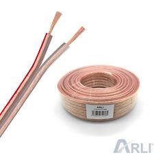 Lautsprecherkabel 2x2,5 mm² 100m Lautsprecher Kabel CCA Kupfer transparent Boxen