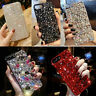 Handmade Girl's Luxury Bling Diamond Rhinestone Crystal Jewelled Back Case Cover