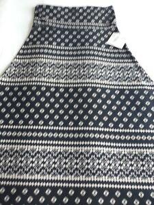 NWT LuLaRoe Maxi Skirt Black and White Size Medium