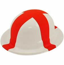 St Georges Bowler Hat England Flag Football English Fancy Dress Adults Plastic