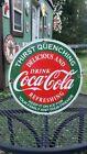 COCA COLA porcelain metal sign vending machine coke soda vintage style fountain