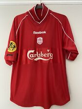 2000-02 Liverpool Home Shirt - Medium -*Gerrard 17 On Back + Arm Patch*