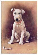 BULL TERRIER PUPPY OLD DE RESZKE OUR PUPPIES DOG POSTCARD CIGARETTE CARD
