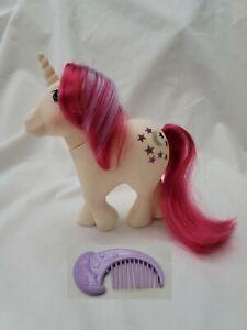 My Little Pony 1983 Moondancer G1 Unicorn Purple Moon Comb