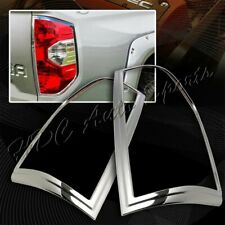 For 2014-2016 Toyota Tundra Chrome ABS Plastic Trim Bezel Rear Tail Lights Cover