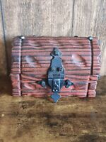 Vintage Wooden Trinket Box Treasure Chest Design