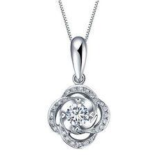Swirl Flower Pendant 925 Sterling Silver Necklace Women Jewellery Ladies Gift