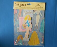 Vintage Barbie Paper Doll Gift Wrap Pak by Gibson New in Pack 2 sheets