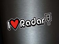 1 x Aufkleber I Love Radar Radarfalle Blitzer Shocker Turbo OEM Sticker Tuning