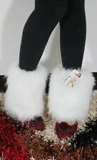 Women Fluffies Fluffy Furry Leg Foots Warmers Boots Covers Rave Furries 20cm New