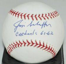 Jimmie Schaffer 1961 1962 St. Louis Cardinals Signed Major League Baseball COA