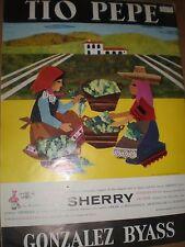 Tio pepe Sherry Pamela Adams art advert 1963 ref AY