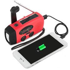 Emergency AM/FM/NOAA Weather Radio LED Flashlight Solar Hand Crank USB Dynamo