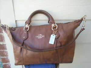 COACH F33806 COLETTE BROWN LEATHER SATCHEL HANDBAG