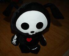 "Skelanimals Black Dax Dog Plush Stuffed 20.5"" Doll Fiesta Bunny Skeleton Heart"