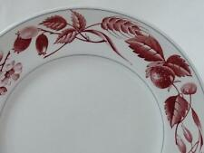 "Ridgway Bountiful Red Pattern Dinner Plate 10"" Staffordshire England"
