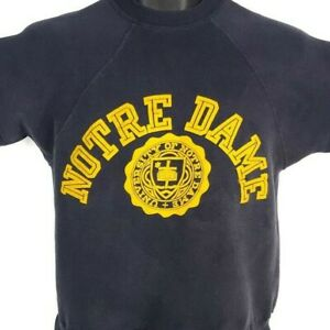 Notre Dame Fighting Irish Sweatshirt Vintage 60s Champion Made In USA Size Small